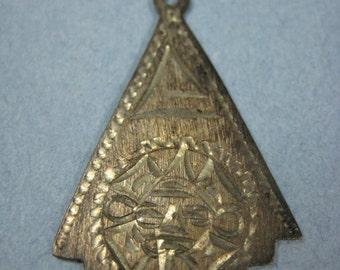 "Handmade 1.25"" Sun Pendant 925 Sterling Silver Mexico, Fashion Jewelry, Collectible Souvenir"