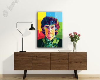 Tribute to Donovan framed wall art canvas print personalized gift, pop art, husband gift, boyfriend gift, birthday gift, coworker gift, gift