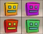 """Geometry Dash Icon Plush Toy. Large, 9"""" Version"""