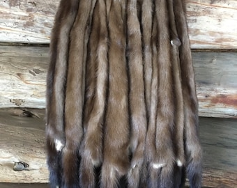 XL WILD MINK pelts super select #1 excellent quality soft stretchy leather 30 inch average