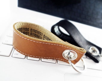 Key fob, declaration of love, Leather