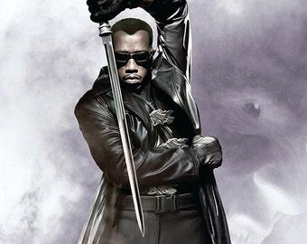 Blade - Wesley Snipes - Vampires - Blade Print - Blade Poster - Wall Art - 8x10 - 11x14 - 16x20 (JS000516)