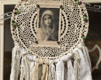 """Bohemian """"Blessed Mother Mary"""" Dream Catcher"""