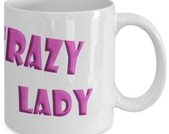 Funny Coffee Mug - Crazy Pig Lady - Pig Lover Mug - Pet Mug - Pig Coffee Mug - Pet Lover Gift - Pig Lover Gift - Unique Coffee Mug - Pig Mug