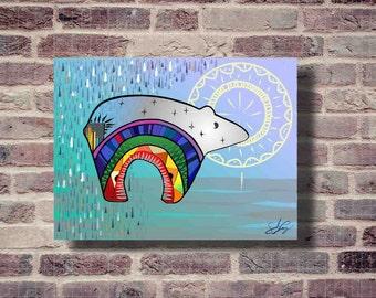 Rainbow Bear Digital Print