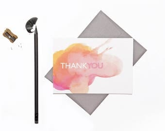 Thank You Card | Thanks | Watercolour | Greeting Card