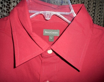 Nice Red Shirt     Size Large     by HENRY COTTON,      Never Worn    still with tags on,