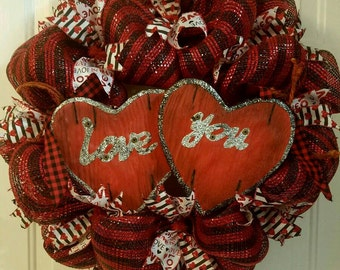 Love You Valentines Wreath