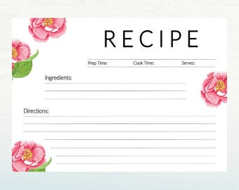 Cute recipe cards | Etsy