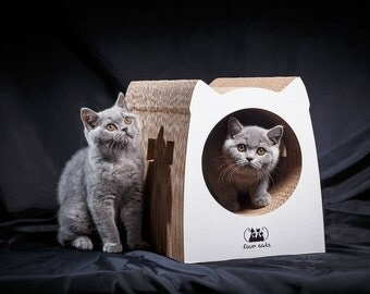 Eco-friendly Cat House / Scratcher SUBWAY off corrugated cardboard