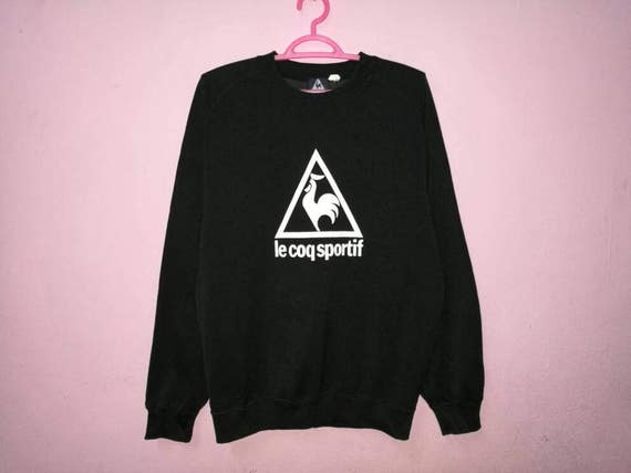 rare ! vintage le coq sportif embroidered pullover jumper crew neck sweatshirt s8UAnfy