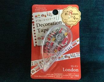 Kawaii London Mini Deco Tape from Japan