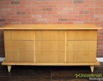 Custom Pick your color! 1950's American of Martinsville Nine Drawer Bamboo Dresser Mid Century