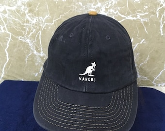 Vintage 90s KANGOL hat cap made in usa free adult size leather strap adjustable