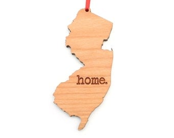 New Jersey home. Christmas Ornament - NJ New Jersey Ornament - Home Christmas Ornament