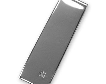 Sterling Silver MONEY CLIP - With Diamond - Boxed