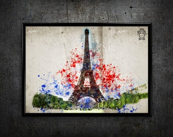 Paris print Paris art print Paris France Eiffel Tower wall art home decor