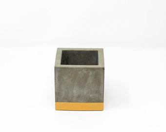 Cube Planter: Gold