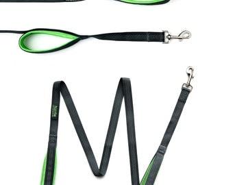Mighty Paw HandleX2, Dual Handle Dog Leash - 6 Feet, Premium Quality Reflective Leash with 2 Handles.