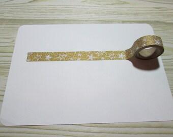 Gold Glitter Star Washi Tape