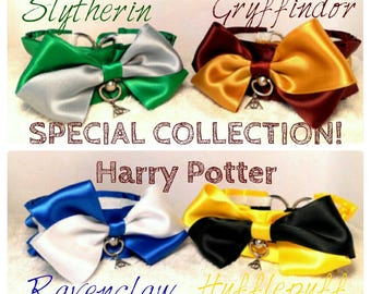 SPECIAL COLLECTION Harry Potter collar BDSM Slytherin Hufflepuff Ravenclaw Gryffindor