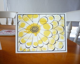 All Occasion Yellow Flower Greeting Card