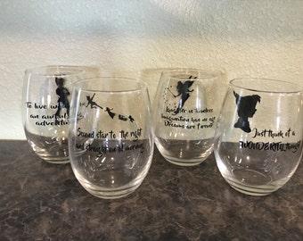 Peter pan wine glass set