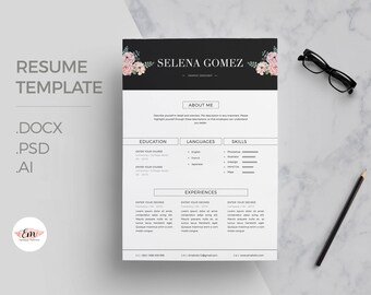 Elegant CV and Cover Letter template/ professional cv template/ Creative Cv / Modern Cv / Instant Downlaod / 1 page resume / creative CV