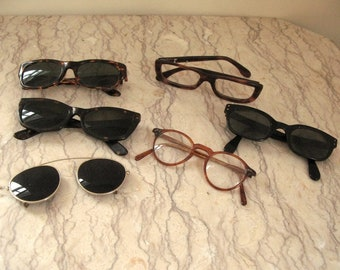 vintage women's eyeglass and sunglass frames