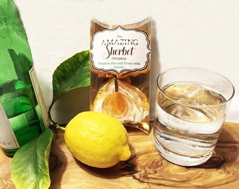 Gin and Tonic Sherbet with Lemon Lollipop - BEST SELLER