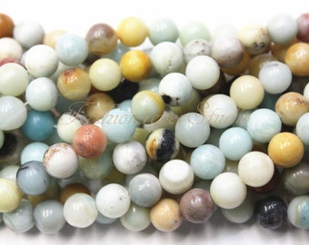 Amazonite Beads,4mm 6mm 8mm 10mm, Full Strand 15.5 inches, Gemstone Beads, Beading Suppliers, Jewelry Suppliers