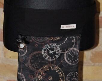 Belt bag, waist pack, Fanny Pack, steampunk, gears, watches, time, document bag, travel bag