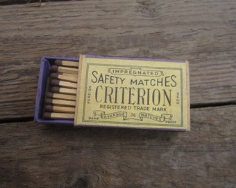 Rare Soviet matches USSR matchbox collector collectable soviet wooden matches box safety matches Criterion vintage matchbox