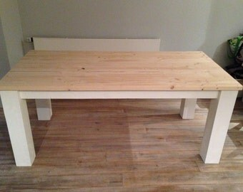 Solid wood table at desired glaze 100% hand now