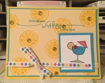 Handmade Stampin Up Card - Birthday Wishes - Birthday Card