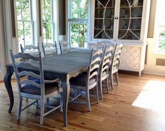 SOLD Weathered Dining Table and Chairs