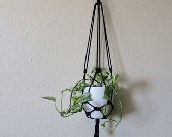 Simple Black Macrame Hanger