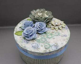 Handmade vintage style gift or keepsake box