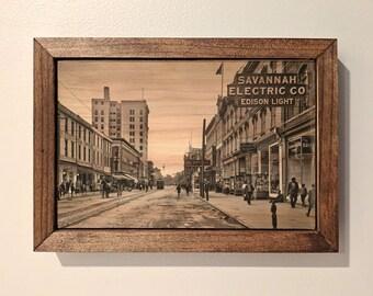 Downtown Savannah, GA (Broughton Street) Wooden Sign
