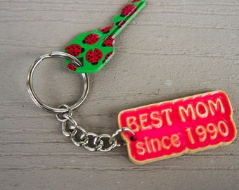 Best Mom Key Chain, Personalized, Mother's Day Gift, Housewarming Gift, Gift for Her.