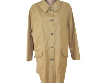 Vintage Loden Frey 1842 women trench coat 100% cotton USA 14