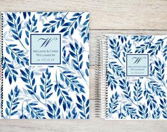 Custom Wedding Planner, Keepsake Planner, Wedding Planning Guide, Wedding Planner Book, Bride to be Present, Engagement Gift, Leaf