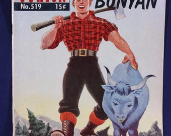 Paul Bunyan no. 519 Classics Illustrated Junior vintage 1950's comic book