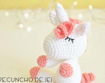Unicorn pink Amigurumi, Unicorn Amigurumi, Unicorn of crochet, Amigurumi Unicorn, Crochet Unicorn, Pink Amigurumi Unicorn, toy