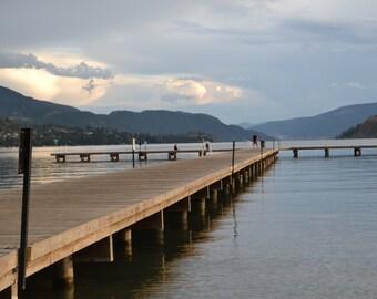 The dock at dusk on Kalamalka Lake, Vernon BC
