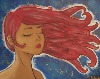 Red: Acrylic Canvas Painting