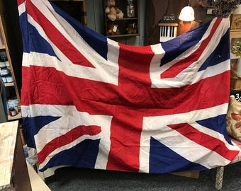 Original Vintage British U.K Flag !! Huge