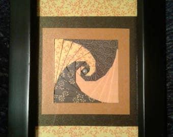 "Handcrafted 5"" x 7"" framed Paper Art"