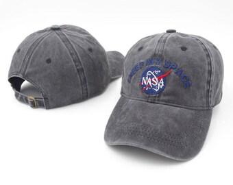 Grey suede i need my space NASA Baseball cap