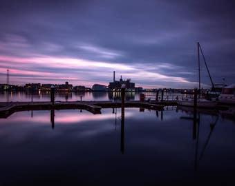 Baltimore Sunset, Baltimore harbor, Fells Point